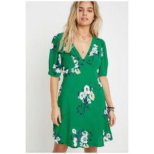 Free People Neon Garden Mini In Green Dress